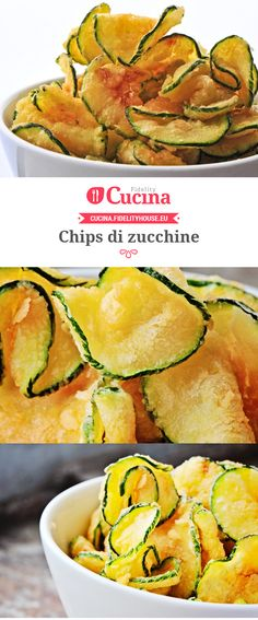 Food and drink: Chips in aperitivo: dalla patata allo zucchino, ma. Vegetarian Recipes, Cooking Recipes, Healthy Recipes, Aperitivos Finger Food, Healthy Snacks, Healthy Eating, Cuisine Diverse, Slow Cooked Meals, Antipasto