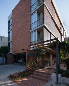 Located in Asuncion, the project consists of an apartment building of three floors.