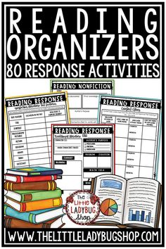 You will love these Reading Response Sheets & Reading Graphic Organizer for Third, Fourth Grade, and Fifth Grade students! This bundle is packed with over 80 Differentiated Graphic Organizers for Reading Literature. These reading response sheets can be used in small groups, literature circles, centers, reading groups, any reading series, or whole group. #readinggraphicorganizers #readingresponseactivities