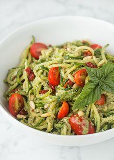 Zucchini Pesto Pasta (raw, vegan, gluten-free)   Will Cook For Friends by WillCookForFriends, via Flickr