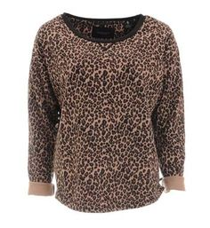 Maison Scotch sweater in een all over dierenprint. Lekker zachte trendy sweat! - Oud roze dessin - NummerZestien.eu