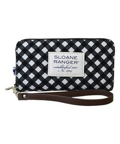 Another great find on #zulily! Black Gingham Smartphone Wallet #zulilyfinds