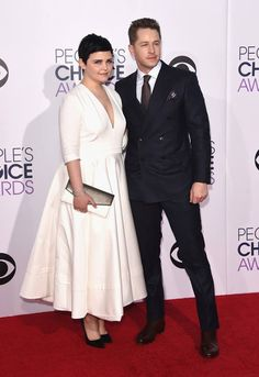 Ginnifer Goodwin and Josh Dallas attend The 41st Annual People's Choice Awards at Nokia Theatre LA Live on January 7, 2015 in Los Angeles, California.