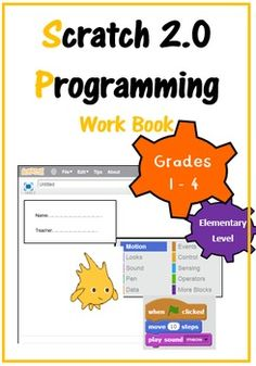 This Scratch 2.0 Workbook is aimed at Grades 1-4 (students of ages 6-9). This workbook teaches students the basics of Scratch 2.0 (online version) in a child friendly manner with easy to understand terminology throughout. As students work through the booklet they build up their skills in programming quickly and efficiently.