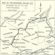 Route of the old rockabye railroad that went from Whitehouse through Ralston, Mendham,Brookside to Watnong, near Morristown, NJ - Google Search