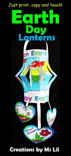 A fun, interactive Earth Day Craft that looks fantastic hanging from the classroom ceilings.  Your kids will love creating these Earth Day globes.  ::  ::  ::  ::  ::  ::  ::  ::  ::  ::  ::  ::  ::  ::  ::  ::  ::  ::  ::  ::  ::  Earth Day  ::  Earth Day Craft  ::  Fine Motor Crafts  ::  April 22  ::  Crafts for Kids  :: Earth Day Activities ::  Paper  Lanterns  ::  Ms Lil  ::  Environmental Education  ::  World Maps  ::  Globes  ::  3D Crafts  ::