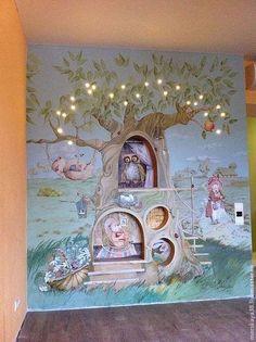 """Детская ручной работы. Ярмарка Мастеров - ручная работа. Купить """"волшебное дерево"""" роспись стен в детской комнате. Handmade."""
