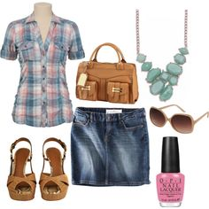 This would be cute with jeans. Hello down-home girl next door look with an uptown twist!