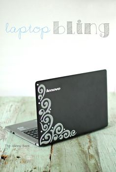 How to Decorate A Laptop with Bling