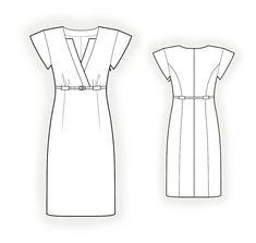 Vestido  - Patrón de costura #4252 Patrón de costura a medida de Lekala con descarga online gratuita.