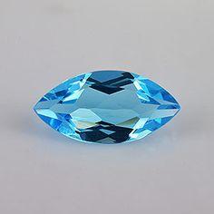 1.87 ct 12x6x3.6 mm #AAA+ #Marquise #EyeClean #BlueTopaz - @rasavgems   #buytopaz #buyloosegemstonesonline #gemstonesuppliers #buygemstone