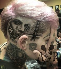Wicked scalp tattoo by Angel Rose Fergerstrom #tattoodotcom #inkoftheday #tattoo #tattoos #tattooed #tattooartists #tattooideas #ladytattooers #girlswhotattoo #blackworktattoo #girlswithink #girlswithtattoos #portraittattoo #goldengatebridge #realistictattoo #tattoolovers #ink #inkspiration #inkspired #inkedup #inklovers #darkartists