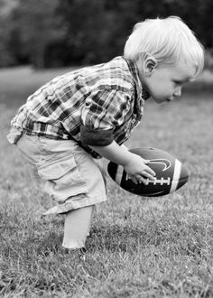 bc dads a football player. so is son:) 2 Year Pictures, Boy Pictures, Boy Photos, Family Photos, Little Boy Photography, Toddler Photography, Cute Photography, Family Photography, Picture Poses