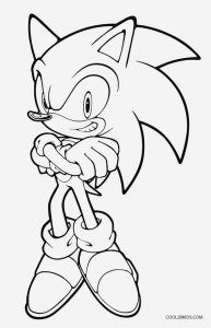 Sonic Coloring Pages Hedgehog Colors Cartoon Coloring Pages