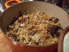 Biryani - a rice (usually basmati) dish served with spices, chicken, mutton, fish, eggs, or vegetables. Order it in Bangladesh and other parts of South Asia. Sweet Dishes Recipes, Spicy Recipes, Cooking Recipes, Lebanese Recipes, Indian Food Recipes, Ethnic Recipes, Tandoori Roti, Iranian Cuisine, Eastern Cuisine
