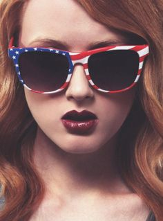 American flag shades, again. I must be obsessed already #craybutton worthy