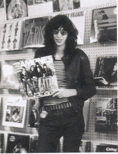 """peaceandloveisheretostay: """" Joey being adorable. Joey Ramone, Ramones, Punk Rock, Music Icon, Art Music, What Is My Aesthetic, Rocket To Russia, Hey Ho Lets Go, Vinyl Record Shop"""
