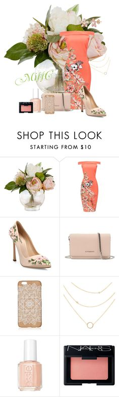 """Floral Set"" by charna-duncan ❤ liked on Polyvore featuring Giambattista Valli, Givenchy, Essie and NARS Cosmetics"