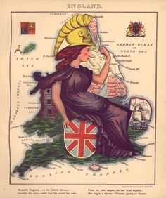 Imperial England at her finest. (Library of Congress)  A 15-year-old girl made these beautiful caricature maps of the world — in 1868 http://www.vox.com/2015/4/7/8356455/country-caricature-maps