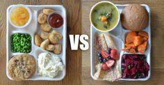 Almuerzos escolares en diferentes partes del mundo