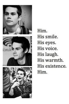 """Him."" - someone wrote a little ode to Dylan :)"