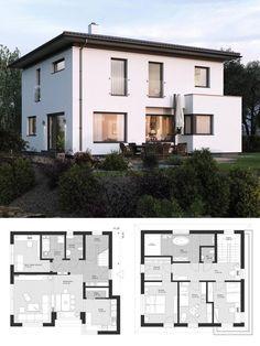 Moderne Bauhaus Stadtvilla Neubau Grundriss Mit Flachdach