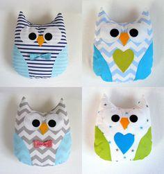Gorgeous handmade owl pillow,baby gift,mr. owl, handmade,kids room, boy,