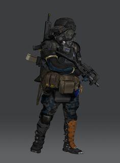 ArtStation - Rifleman, Tyler Bartley