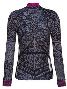 tribe womens long sleeve cycling jersey