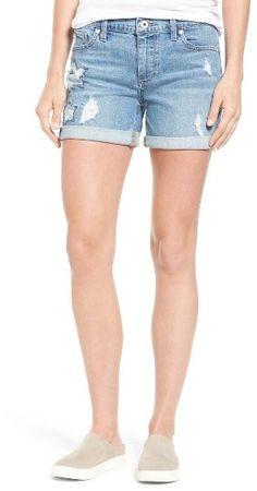 KXP Girl Simple Cute Jean All-Match Hole Denim Short
