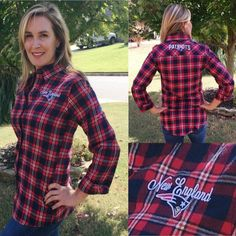 New England Patriots NFL 2016 Womens Wordmark Flannel Shirt New England  Patriots 110463ff3