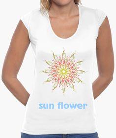 Sun flower V Neck, Sun, Flowers, T Shirt, Tops, Women, Fashion, Chemises, Colors