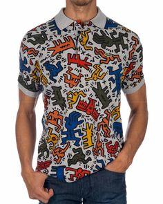 Polo LACOSTE ® Keith Haring Gris | ENVIO GRATIS Keith Haring, Lacoste Outlet, Polos Lacoste, Fashion Vocabulary, Boutique, Polo Shirt, T Shirt, Casual Shirts, Men Casual