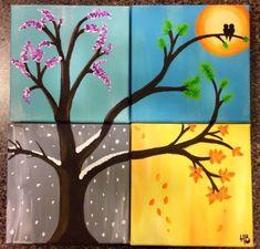 All seasons. #smallcanvaspainting #canvaspaintingideas