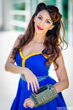 "Fallout ""Vault 101"" inspired pin-up dress"