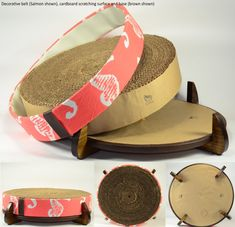 The Cat Wheel, cardboard cat scratcher and cat bed, provides an elegant, well-constructed place for your cat to scratch, nap, play and lounge comfortably. The Cat Wheel can easily be incorporated into any living space. Handcrafted and assembled to order by Catnap Workshop, in NYC The