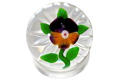 #Antique #Baccarat Pansy #Paperweight on OneKingsLane.com