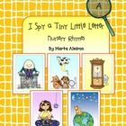 """Fun activity for a literacy center """"I Spy a Tiny Little Letter"""" (nursery rhyme theme).  Using a magnifying glass, students search for the hidden le..."""