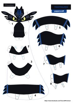 [Larger] Toothless papercraft by Tos-craft.pdf [Larger] Toothless papercraft by Tos-craft. Papercraft Pokemon, Pokemon Craft, Dragon Birthday Parties, Dragon Party, 3d Paper Art, Paper Crafts Origami, Anime Crafts, How To Train Dragon, Dragon Crafts