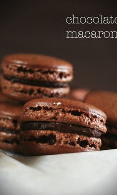 Macarons, Cookies, Chocolate, Desserts, Food, Tailgate Desserts, Biscuits, Deserts, Schokolade