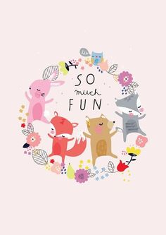 'so much fun' a3 print via violet and percy. Click on the image to see more!