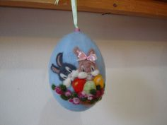 Needle+felted+easter+egg++wool+easter+decoration+by+ElisFeltCraft,+$18.00