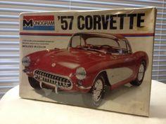 VTG Original MADE IN USA Monogram Sealed KIT 1957 Corvette # 2227 1977 Release #Monogram