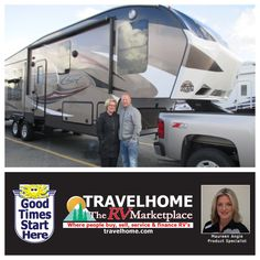 Congratulations to Angie & Gary on the purchase of their Cougar 327RES #fifthwheel from Maureen! #cougarrv #camping #rving #rvlife #goodtimesstarthere