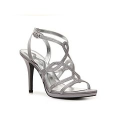 prom shoes - some silver bling but all over gray/pewter tone - she says they were comfortable all night!  looked nice with navy
