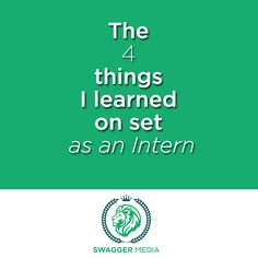 Eric tells about the 4 important things he learned as an intern at Swagger Media. #internship #filmmaking #onset