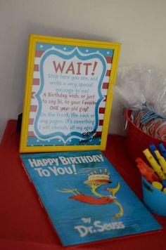 Luke's Dr. Seuss 1st Birthday | CatchMyParty.com