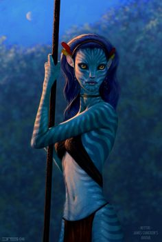 Image about fan art in {avatar} by kaldalys on we heart it Avatar Films, Avatar Movie, Avatar Characters, Fantasy Characters, Alien Character, Character Art, Character Design, Fantasy Creatures, Mythical Creatures