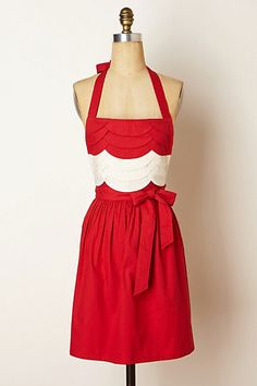 Scarlet Fondant Apron #anthropologie Now THIS I would pay for
