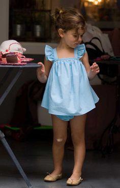 Vestido Mandil Turquesa con Braguita de Volantes | No Sin Valentina